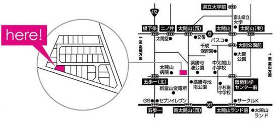 ワイケイホーム南太閤山オープンハウス地図